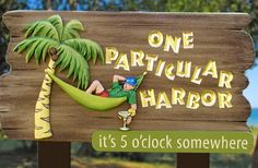 One Particular Harbor Lake House Sign Beach House Signs, Beach Signs, Home Signs, Cruise Door Decor, Tiki Bar Decor, Cottage Signs, Fort Walton Beach, Jimmy Buffett, Directional Signs
