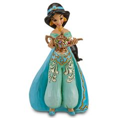 Disney Princess Sonata Jasmine Figurine by Jim Shore - A secret wish is granted when you place this beautifully detailed Disney Princess Sonata Collection Jasmine Figurine by Jim Shore on the universal Musical Base (sold separately) to hear her corresponding tune activated, as if by Magic! | Figurines & Keepsakes | Disney Store