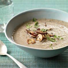 Two-Mushroom Velouté | The secret to this mushroom soup by Joël Robuchon: a little crème fraîche.