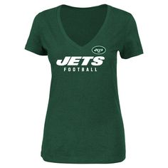 T-Shirt New York Jets Team Color Xxl, Women's, Multicolored