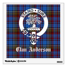 Clan Anderson Crest Tartan Wall Decal Find more Clan Anderson Gifts and Gear http://www.zazzle.com/gifts?cg=196319011129759736&sr=250014770192443482&ch=celticmuse&ps=120?rf=238408020040431303
