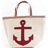 Fresh American Admiral Red & Ivory Indoor / Outdoor Tote Bag