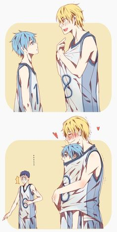 Kuroko no Basket Aww! KisexKuroko is cute, though I gotta say I prefer KagaKuro :D