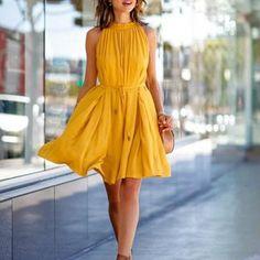 Lemon - Vintage Yellow Dress