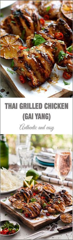 Thai Grilled Chicken (Gai Yang) - authentic flavours from the streets of Thailand!, easy to make on your BBQ, stove or oven!