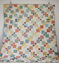 Let's begin sewing...: Disappearing 9 Patch Quilt