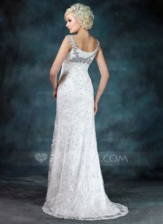 Trumpet/Mermaid Off-the-Shoulder Sweep Train Chiffon Lace Mother of the Bride Dress With Ruffle Beading Sequins Split Front (008006400)