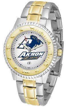 Akron Zips Competitor Two Tone Watch