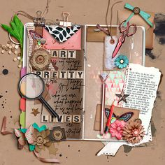 Simple Pleasures, Shadow Box, Digital Scrapbooking, How To Find Out, Make It Yourself, Gallery, Creative, Sweet, Summer