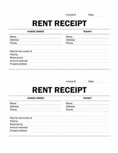 images about rent receipt template on  templates   rent receipt templates  rent receipt and rental invoice templates a rent receipt also known as rental invoice is a document that records