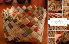 How To Weave A Newspaper Basket | DIY Cozy Home