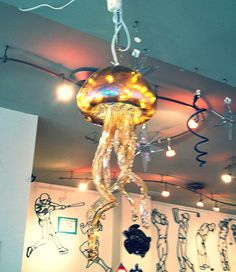 Gorgeous, Hand Crafted Jellyfish Light Fixture From Grassroots Gallery In  Stone Harbor, NJ