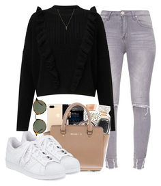 """""""Untitled #206"""" by champagnayegang ❤ liked on Polyvore featuring Miss Selfridge, Michael Kors, adidas, Ray-Ban and Yves Saint Laurent"""