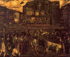 José Gutiérrez Solana). España. (1886-1945  corrida de toros en Sepulveda