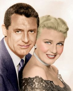 Cary Grant (Bristol, 18 de enero de 1904 – Davenport, Iowa, 29 de noviembre de 1986) Formando pareja con Ginger Rogers en la película de 1952: Monkey Business (Me siento rejuvenecer), de Howard Hawks.