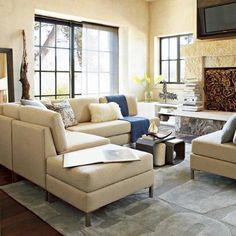 22 Living Room Designs With Sectionals: http://www.homeepiphany.com/22-living-room-designs-with-sectionals/