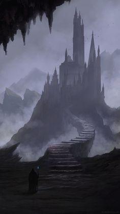 Digital Painting / Concept Art / Landscape / Castle / SciFi / Science Fiction / Other Planet / Future / Surreal / Mystic / Fantasy // ♥ More at: https://www.pinterest.com/lDarkWonderland/