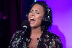 """We already knew that Demi Lovato could wail, but she takes her vocals to brand-new heights for a cover of Hozier's """"Take Me to Church"""" in the BBC Radio 1 Live Lounge."""