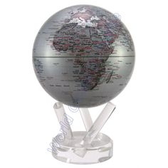 "This would look perfect in my hubby's office - MOVA 6"" Silver Earth Desk Globe"