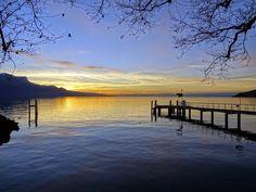 21 décembre 2014 Vevey, Switzerland, Celestial, Sunset, Beach, Water, Outdoor, Gripe Water, Outdoors