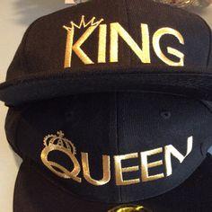 eefefd6cee8 KING QUEEN hats baseball snapback quality custom Summer caps
