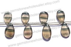 Fluorite Smooth Pear Quality AA / A pack of by GemstoneWholesaler