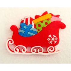 Santas Sleigh Fridge Magnets for kids