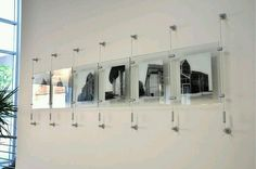 Unusual art display ideas a cable system is a cool and contemporary way to display art or photography.#artifex_art #framingideas #newpictureframedesigns #art #commercialinteriordesign #interiordesign (Cool Photography Projects)