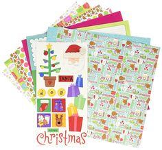 "Amazon.com: Doodlebug 5182 Paper Plus Value Supplies (12 Pack), 12"" x 12"", Bright Christmas, Multicolor"