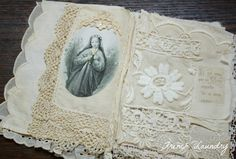 Gorgeous book of lace and transfers.
