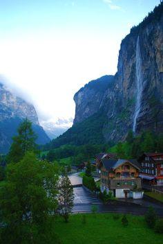 View from Hotel Staubbach. *** Wengen, Lauterbrunnen, Switzerland
