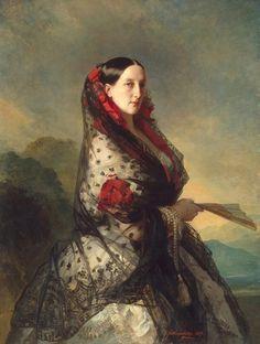 1857 Grand Princess Maria Nikolaievna by Franz Xaver Winterhalter (State Hermitage Museum - St. Petersburg, Russia) From klimbim.minus.com:mA4LzLijvdvQ8 UPGRADE removed spots on skirt