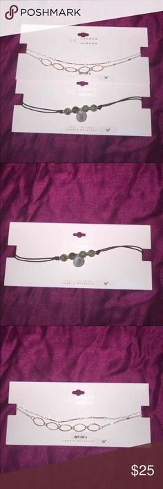 2 LC Lauren Conrad Two Choker Necklaces 2 LC Lauren Conrad Two Choker Necklaces LC Lauren Conrad Jewelry Necklaces