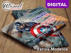 Wisual Convites - Convite Digital Capitão América