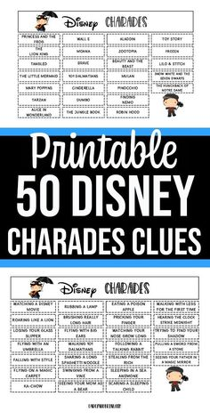 So fun! This Disney themed charades for kids printable game is a fun and easy fa. So fun! This Disney themed charades for kids printable game is a fun and easy family activity. Kids will have Charades For Kids, Charades Game, Kids Party Games, Movies For Charades, Charades Words, Birthday Games For Kids, Family Party Games, Toddler Games, Disney Activities