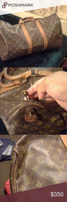Louis Vuitton Keepall 45 its authentic bag with flaws also a vintage but still have lots of life left ( price according of the condition) Louis Vuitton Bags Travel Bags