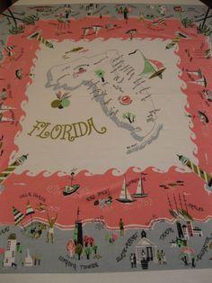 Florida souvenir tablecloth