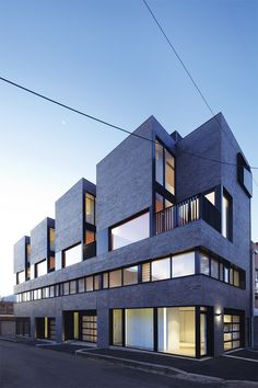 North Melbourne Townhouses | ArchitectureAU Planned for both residential and commercial functions - these four townhouses are an experiment in hybrid planning