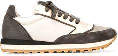 Brunello Cucinelli glitter toe panelled sneakers