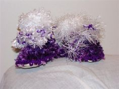 New Born Knitted purple feathers sheep skin baby boots