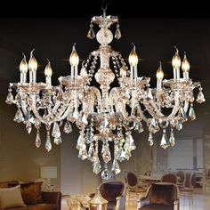 Ceiling Lights Chandelier Crystal Cognac Color Luxury Modern 10 Li... ($210) ❤ liked on Polyvore featuring home, lighting, ceiling lights, array0x1532df40, modern crystal chandelier lighting, modern lighting, ceiling star lights, modern chandelier lighting and crystal chandelier lighting