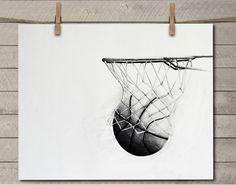 Basketball Decor - Basketball Art - Basketball Room Decor - Basketball Room Art - Kids Room Art by EverydaySummit on Etsy https://www.etsy.com/listing/450818734/basketball-decor-basketball-art