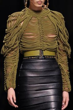 Balmain F/W 2014 ilieke this leather skirt and the rest Too !