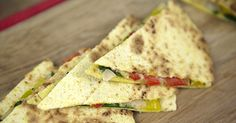 Caramelized Onion & Pepper Quesadillas | Katie Mae for Forks Over Knives | #plantstrong #vegan #recipe