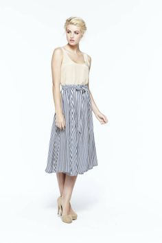 paper crown: hampten top + netting stripe skirt
