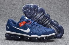 Popular Nike Air Max 2018 KPU Dark Blue/White Men's Running Shoes Sneakers  849558 500