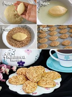 Salty Cookies with Sesame Spread in the Mouth - Eat Recipes Turkish Recipes, Italian Recipes, Turkish Sweets, Fish And Meat, Food Platters, Fresh Fruits And Vegetables, Cookies, Cookie Recipes, Food To Make