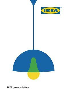 Ikea Green Solutions IKEA BELGIUM DDB BRUSSELS 2015 Ad Design, Icon Design, Branding Design, Ads Creative, Creative Advertising, Ikea Logo, Ikea Ad, Line Sticker, Print Ads