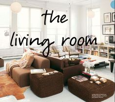 the living room / sooooo doing this since we have such a biiiig living room!