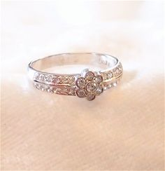 Art Deco Diamond Engagement Or Wedding Ring in 14k by hotvintage, $495.00